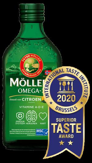Möller's Omega-3 Citroen met Superior Taste Award