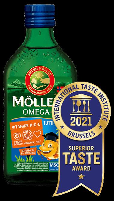Möller's Omega-3 Tutti Frutti met levertraan met de beste smaak