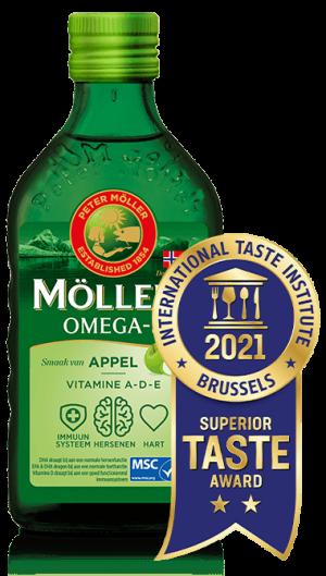 Möller's Omega-3 Appel met Superior Taste Award