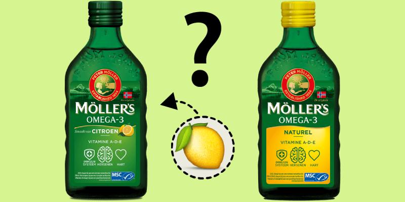 Waarom is Möller's Omega-3 Citroen niet geel, maar groen?
